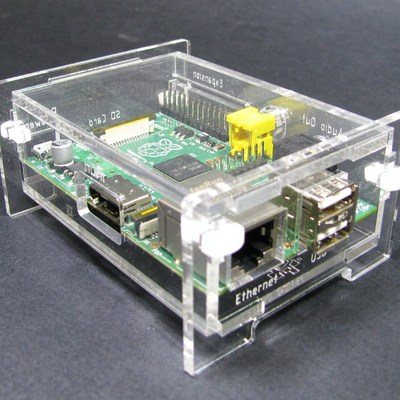 Clear raspberry pi enclosure kit