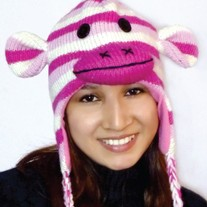 Pink Striped Monkey Hat
