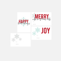 christmas gift tags | set three