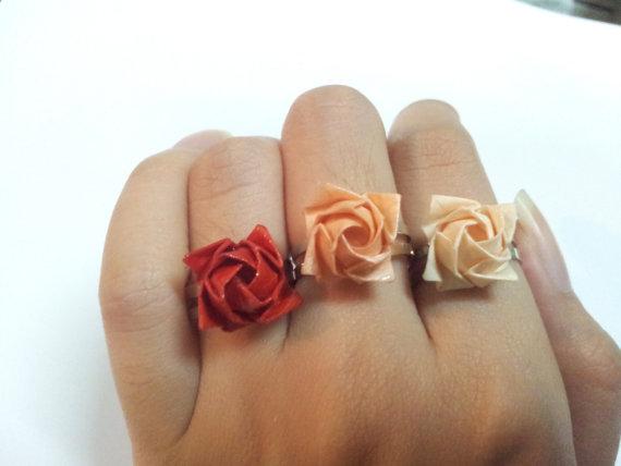Origami Rose Ring Girlfriendnboyfriend Online Store Powered By