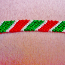 Christmas Striped Bracelet