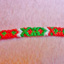 Christmas Diamonds Braided Friendship Bracelet