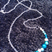 Iridescent Blues Necklace