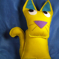 Felt Animal Decorative Pillow - Otto the Cat