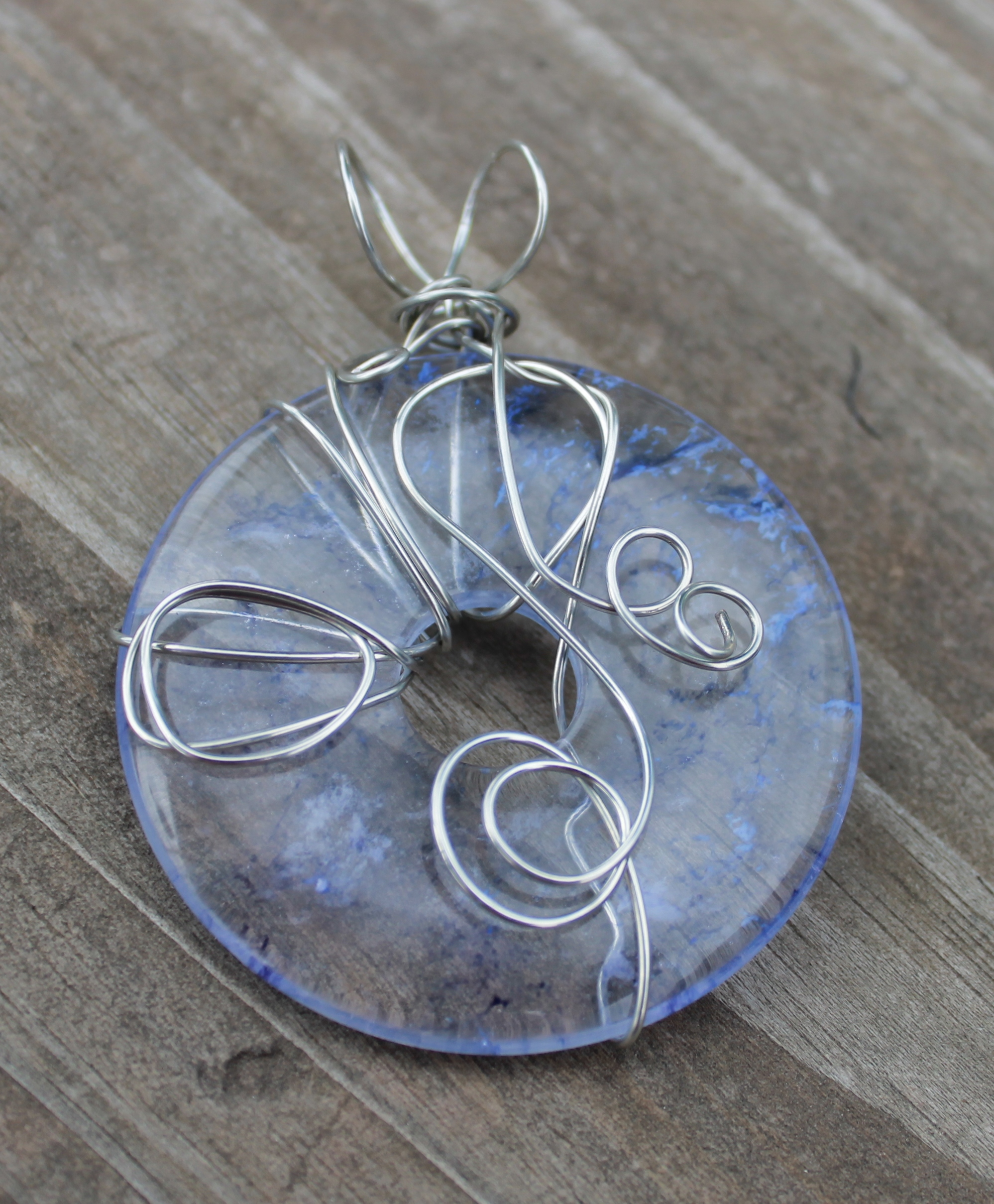 wire wrapped pendant donuts - photo #27