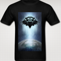 """ORBITAL STATION"" T Shirt for Men (Black)"