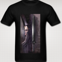 """THE WIZARD"" T Shirt for Men (Black)"