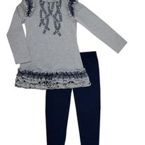 Biscotti By Kate Mack Navy Blue Tunic w/leggings