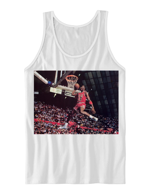 Michael jordan classic dunk tank top basketball shirts nba for Jordan tee shirts cheap