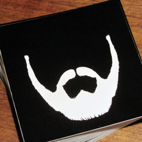 Vinyl Beard Stickers