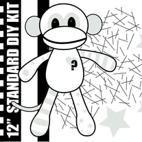 "Random 12"" DIY Kit Sock Monkey - Standard"