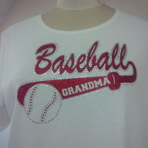 Baseball Grandma Glitter And Stones Shirt 183 One Stop T