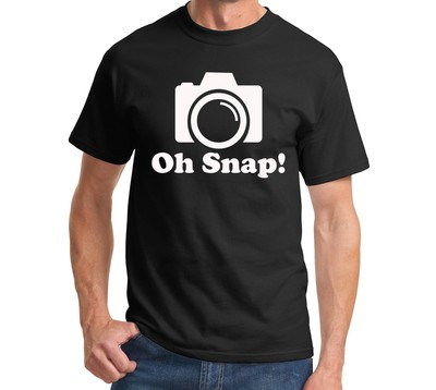 Oh Snap! Funny Photographer T-Shirt Holiday Gift Geek Camera Tee 52