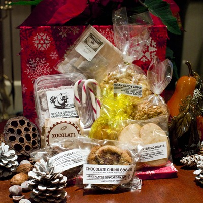 All vegan holiday gift basket - smaller - pick up