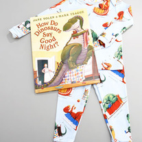 Books To Bed- How do Dinosaurs Say Good Night? PJ & book set