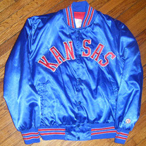 NCAA Kansas University Jayhawks Satin Jacket