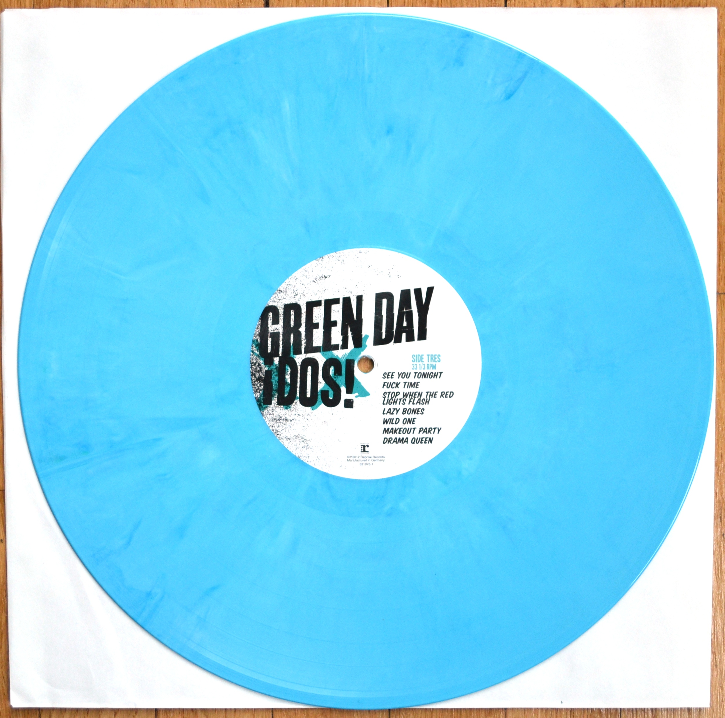 Green Day Dos Vinyl Lp Aqua Blue 183 Revealed Records