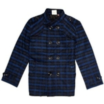 Fore! Axel & Hudson Boys School Boy Blue Plaid Peacoat