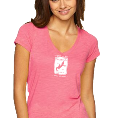 Women's pink shield shirt