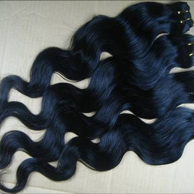 "Four (4) 24"" bundles of silky indian remy body wave - colors: #1"