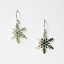 Snowflake Dangle Earrings - Silver or Gold