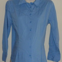 Blue Shirt with Buttons/Collar-New Additions Maternity Size Large