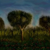 Trees and Landscape - digital art