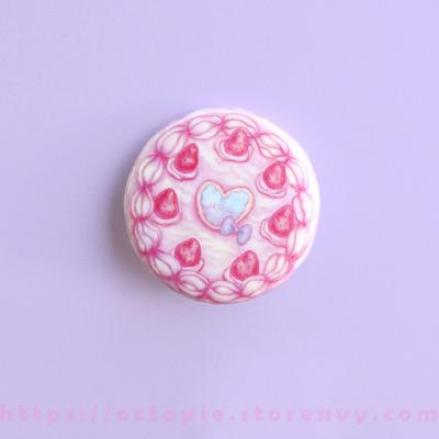 "Strawberry cake 1.5"" button"