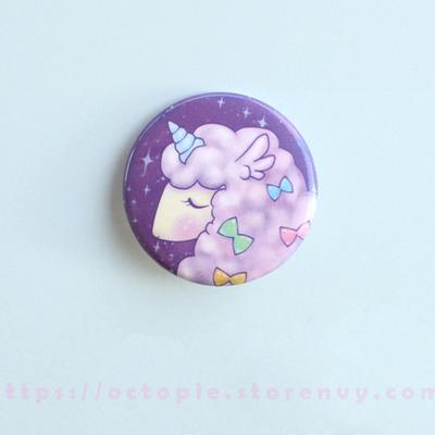 "Alpacacorn 1.5"" button"