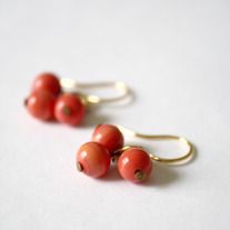 Coral Trio Earrings - Vintage Baubles