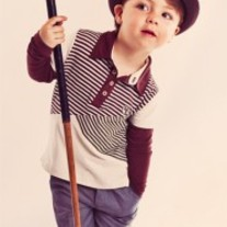 Fore! Axel & Hudson Asymmetrical Striped Polo