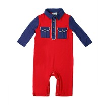 Fore Axel & Hudson Colorblock Romper, Red
