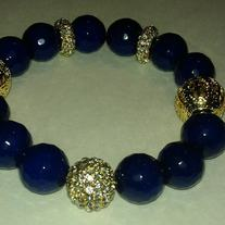 """For the Love of Blue & Gold"" Bracelet"