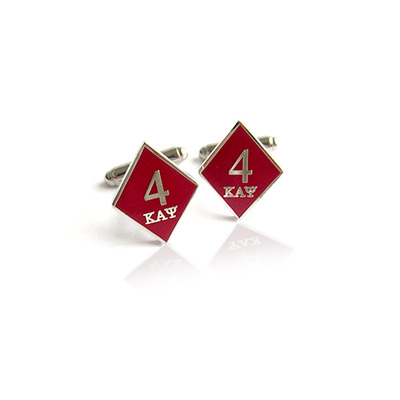 4 klub kappa alpha psi diamond cufflinks