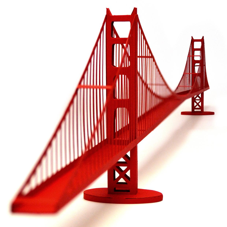 Golden Gate Bridge Paper Model Craft Kit On Storenvy