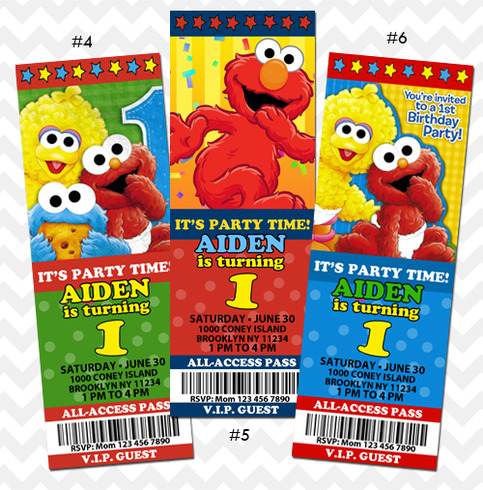 ithinkparty Elmo Invitations Elmo Birthday Invite Online Store