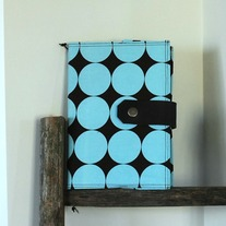 Fabric Covered A5 Journal - Large Blue Dots - Mother's Day Special - Was $35 Now $25