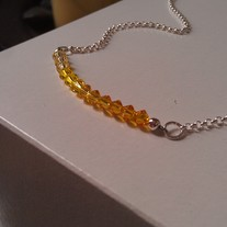 Sunshine Yellow Swarovski Necklace