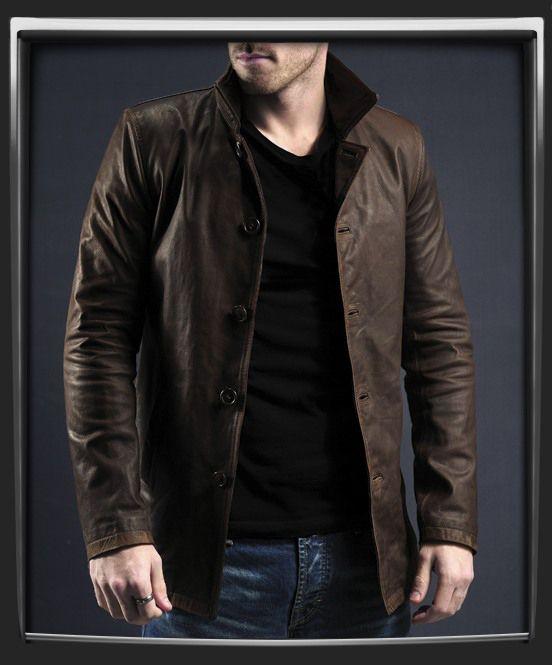 Mens Brown Leather Jacket, Men's Coat, Real Leather Coat · Rangoli ...