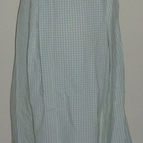 Green/White Gingham Long Dress-Due Date Size Large