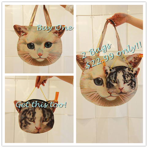 Cat Face Tote Bag Shopper