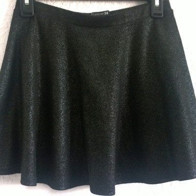 S sparkly glitter black circle skirt