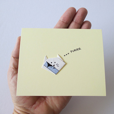Purr-fect Greeting Card - Map Cat