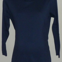Navy Blue Turtleneck-Dividends Maternity Size Medium