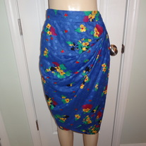 SOLD OUT!! Vintage Blue Colorful Skirt Size 14