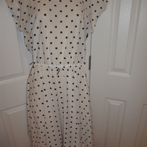 Vintage Plus Size Polka Dot Dress Size 16
