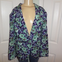 Vintage Plus Size Teal and Purple Blazer Size 16