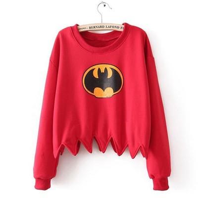Vintage batman crop sweater