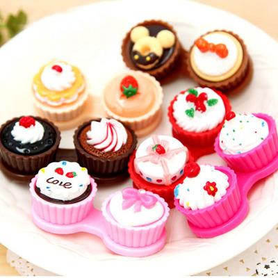Cupcake contact lenses case