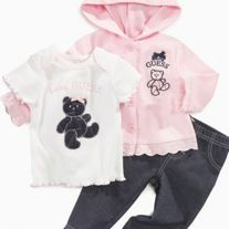 Baby Guess 3-Piece Set- Pink
